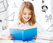 Study tips - girl reading a book smiling F