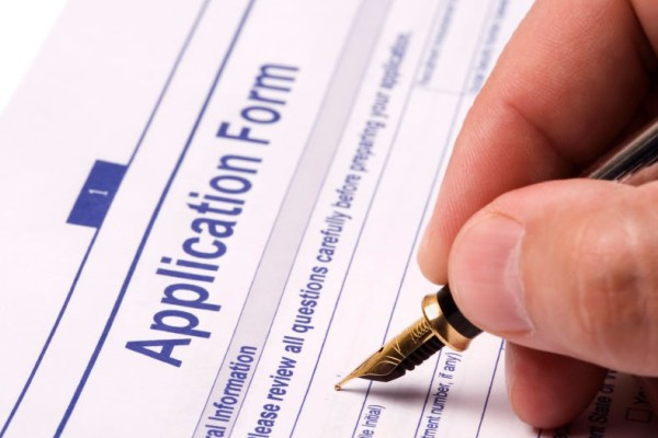 Application form and documents