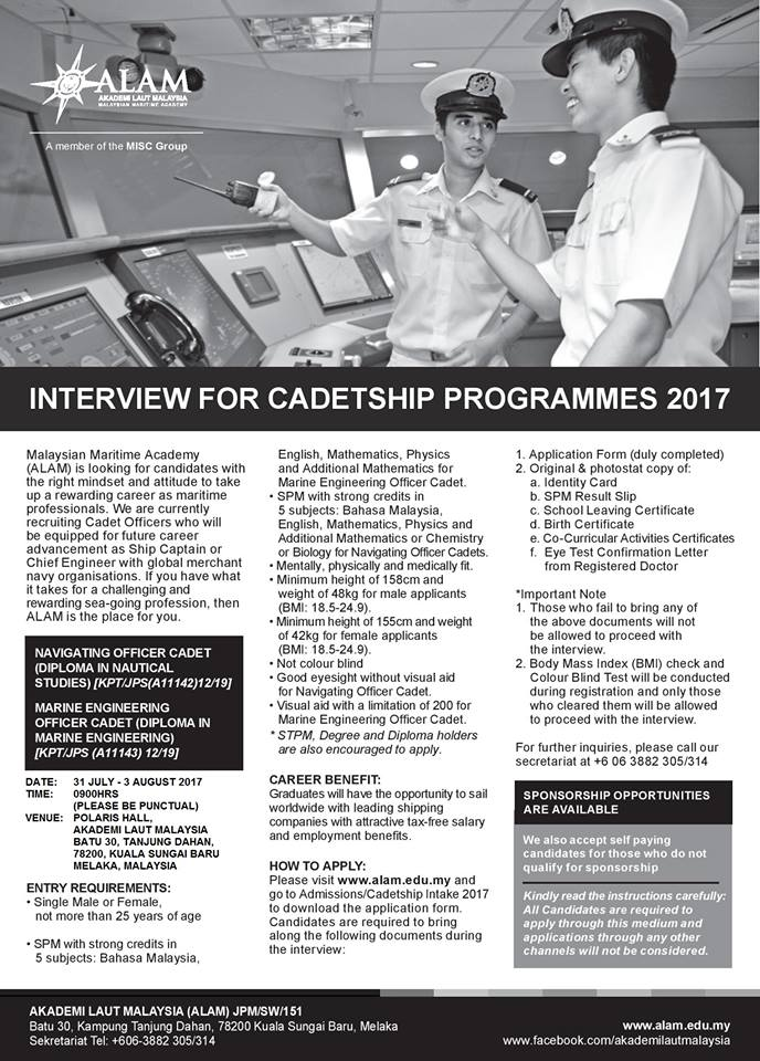 Alam Opens It S September 2017 Cadetship Programme