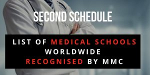 Second Schedule : List of Medical Schools Worldwide Recognised by the Malaysian Medical Council