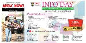 TAR UC Info Day Offers Up To 100% Scholarships to Qualified Students
